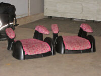 Two Booster Seats - Pink