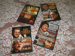 4 Double Feature Movie DVD's - Vintage