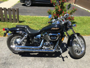 2003 Honda Shadow Spirit -- Black and Chrome and Loud