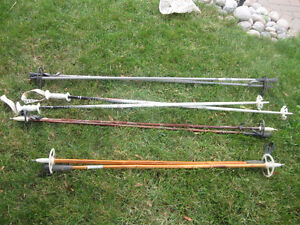 Cross Country Ski Poles and Skis