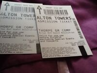 Two tickets too Alton Towers