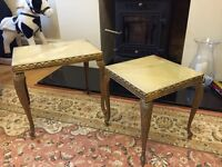 Nest of 2 Occasional/Side Metal Frame, Marble* Top Tables