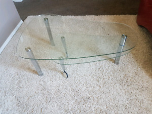 Coffee table and sofa