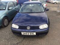 ONE OWNER VOLKSWAGEN GOLF MATCH - 1598cc