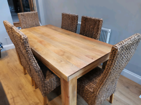 Mango Wood Table with chairs