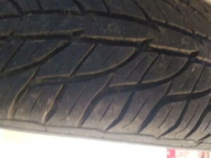 Newer summer tires with rims