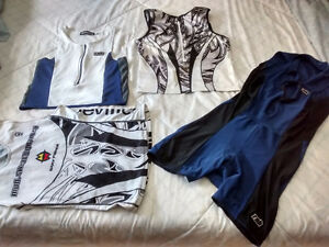 Men's triathlon singlet tops and 1 body suit