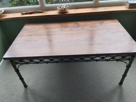 Solid wood topped coffee table