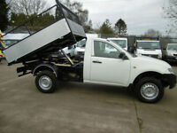 2010 Mitsubishi L200 4WD 4x4 Single Cab Pick up New Dropside Caged Tipper White