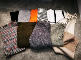 Ladies Jumpers cardigan scarf bundle