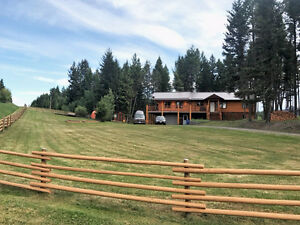 Large Log home on 1.33 acres in great location w/ views!