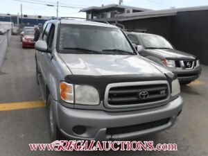 2001 TOYOTA SEQUOIA  4D UTILITY V8 4WD