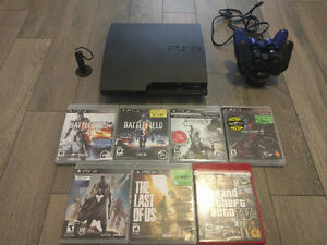 Sony Playstation 3 | 7 Games | 2 Controllers | Headset & Charger