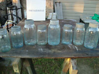 DOZEN VINTAGE COLOURED CROWN JARS FROM EARLY 1900's