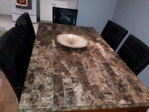Real Authenitc Marble Top Dining Table