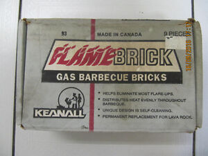 Classic Keanall Flamebrick Gas BBQ Bricks Made In Canada 1980s