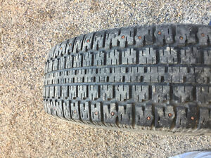 4 Studded winter tires for sale for $300