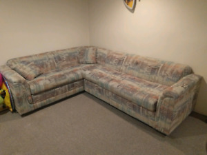 2 Piece Sofa Sectional With Hide A Way Bed
