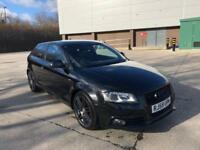 2009 59 AUDI A3 S LINE BLACK EDITION 2.0 TDI 6 SPEED FLAT BOTTOM PRIVACY