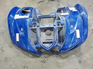 YAMAHA GRIZZLY 450 10/08/14 FRONT FENDER (USED)BLUE