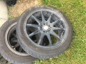 17 inch mags with tires (514-833-6902)