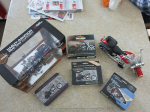 Harley Davidson model, toy, calendar, cards reduced now $45 all