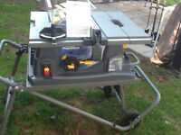 Mastercraft maximum table saw with stand