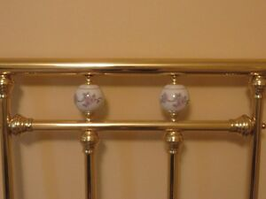 Double Brass bed headboard