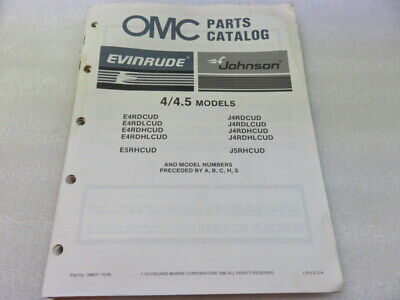 PM64 1987 OMC Evinrude Johnson 4/4.5 Models OEM Parts Catalog Manual P/N 398617