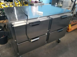 Brand new 4 ft work top cooler with drawers ( Made in U.S.A )