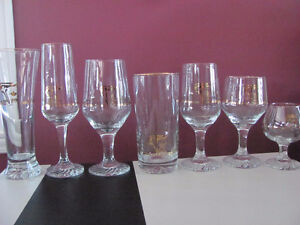 1988 Olympic glasses with 22k Yellow Gold Cornwall Ontario image 1