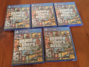 5 new copies of GTA 5 for PS4 save 50% + 4 other games