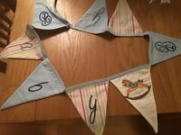 Bunting with embroidery
