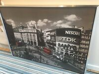 Large London, Piccadilly Circus framed picture
