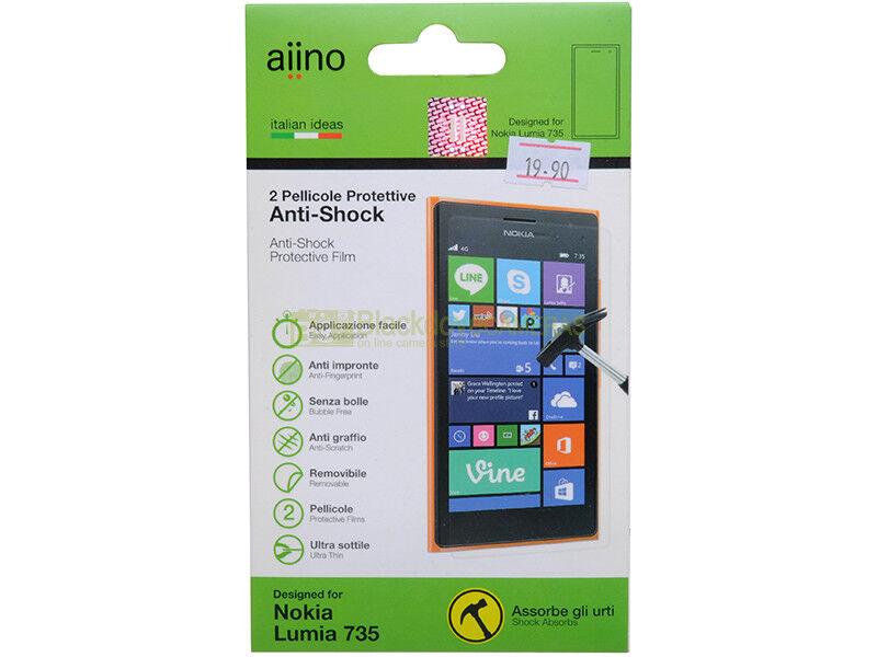 Aiino N° 2 pellicole protettive anti shock per Nokia Lumia 735.