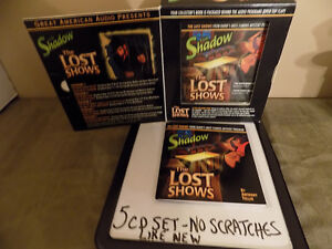 """""""THE SHADOW"""" VINTAGE RADIO SHOW- THE LOST SHOWS 5 CD SET"""