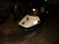 1973 Evinrude RC-35-Q Rotary Snowmobile with parts