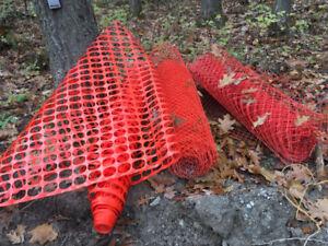 Orange snow/construction fencing