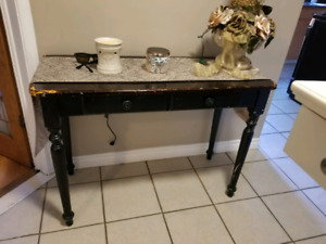 Hall table rustic look