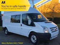 2012/ 62 Ford Transit 2.2Tdci 350 Lwb [ Welfare Unit Toliet ] High Roof Van Rwd
