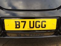 B7 UGG Private number plate