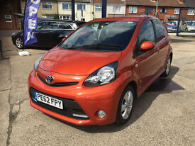 2012 Toyota AYGO 1.0 67bhp Fire 63,000 MILES, FULL TOYOTA HISTORY, 1 OWNER