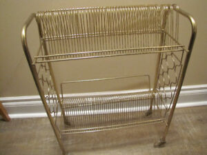 Vintage Metal Record Player Stand $25.00