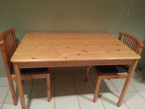 Dining table with 2 chairs!