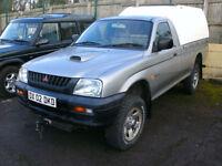 2002 Mitsubishi L200 2.5TD 4x4 S/Cab Pickup