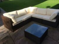 Rattan corner sofa set brand new