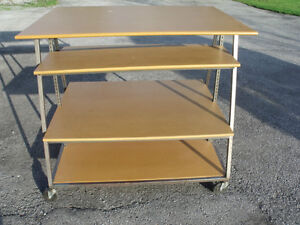 DISPLAY ROLLING TABLE, ADJ. SHELVES, PRICE REDUCED- $100