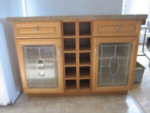 """BEAUITFUL SOLID WOOD """"KITCHEN ISLAND""""/DINING ROOM CABINET"""