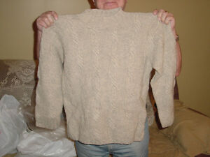 Men`s Large Pure Wool Sweater