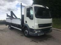 2008 08 DAF LF 45.160 11tonne 16ft dropside with HIAB 055 crane